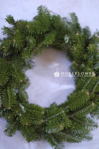 生モミの木リース もみの木クリスマスリース