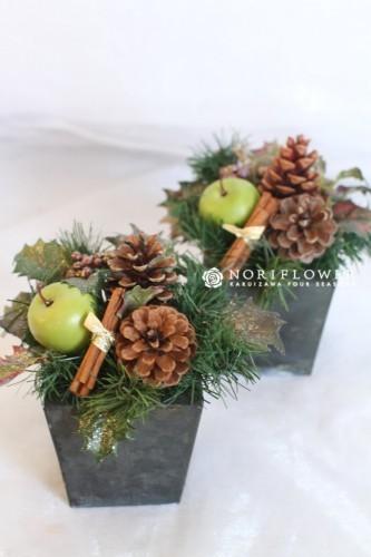 クリスマスアレンジメント モミの木リース