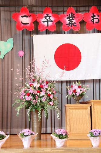 卒業式デコレーション 演台花 卒業式花 卒業式花束