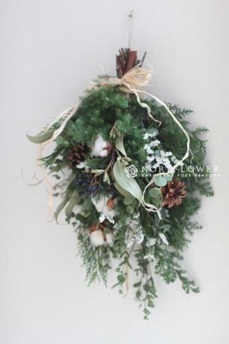 クリスマススワッグ ドライフラワー スワッグ クリスマス クリスマスリース ナチュラルスワッグ リース お正月飾り お正月 ドアリース リース クリスマスリース ドライフラワーリース