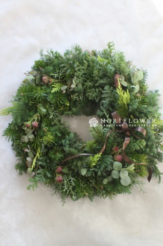 クリスマスリース 生モミの木リース リース wreath christmaswreath  クリスマス クリスマスギフト 軽井沢 ドライフラワー ドライリース フレッシュリース リース 北欧クリスマス 北欧