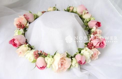 花冠 ヘアーサークル ピンク