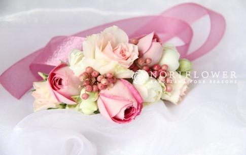 リストブーケ ピンク