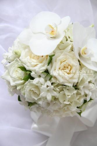 ホワイトローズ ジャスミン&胡蝶蘭
