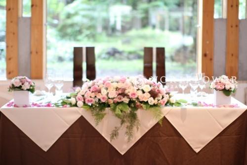 会場装飾 メインテーブル