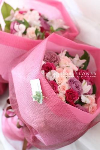 フラワーギフト ピンク 花束