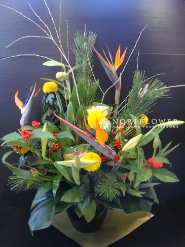 お正月アレンジ 大 黄色&オレンジ系
