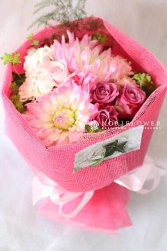 ミニ花束 ピンク系