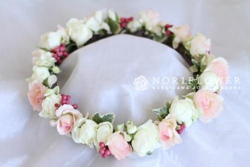 花冠  ピンク&ホワイト