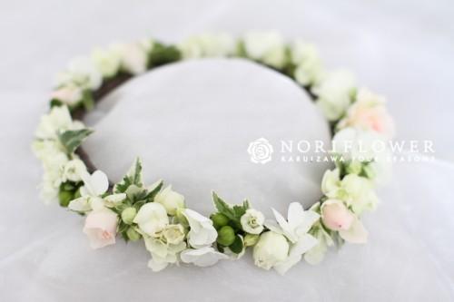 花冠 ホワイト&淡いピンク