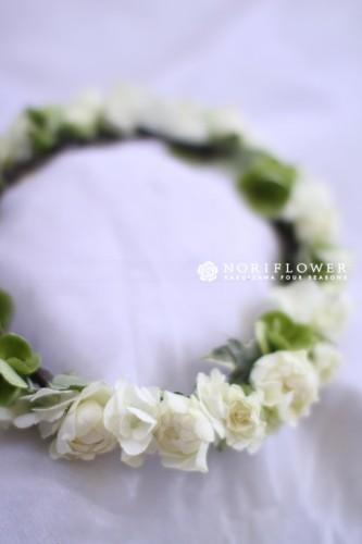 花冠 ホワイト&グリーン