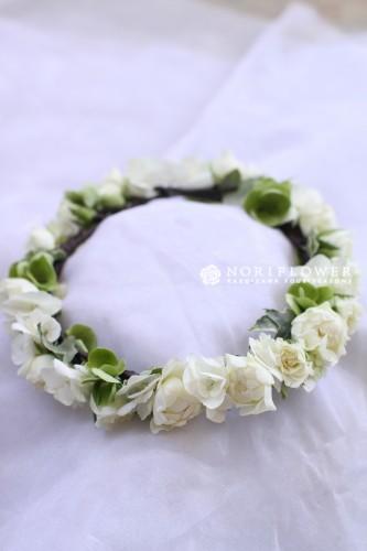 花冠 ホワイト&グリーン 生花