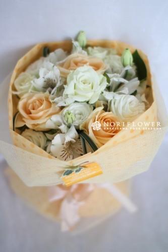 ミニ花束 イエロー&ホワイト
