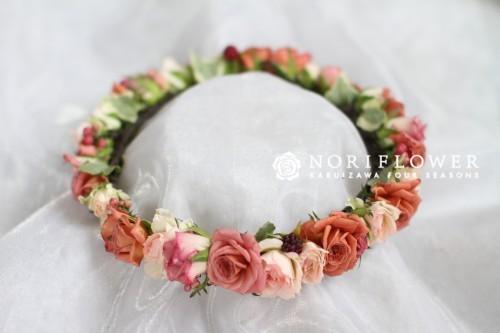 花冠 ショコラ&ペッパーベリー 生花