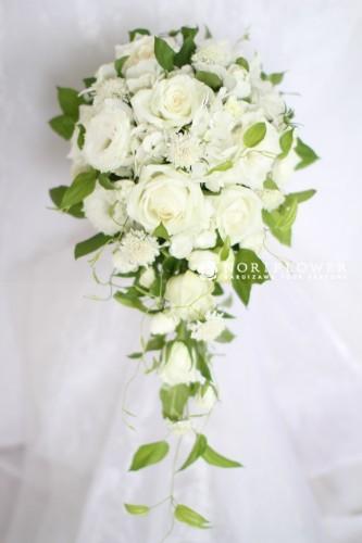 ホワイト&ライムグリーン ウェディングブーケ