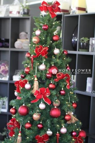 クリスマスツリーデコレーションセット  LEDライト付き