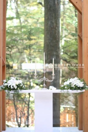 教会フラワー 軽井沢 教会デコレーション
