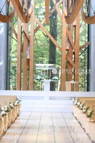 教会デコレーション 軽井沢教会フラワー