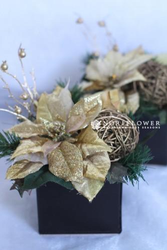 クリスマス アレンジメント モミの木リース