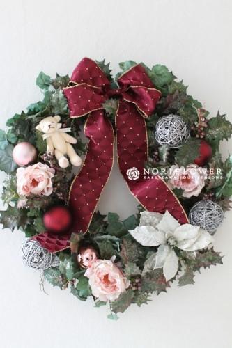 くまちゃん付 クリスマスリース
