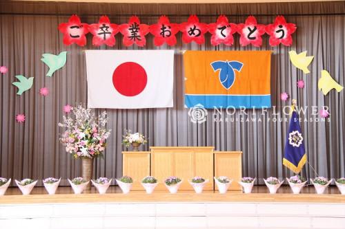 卒業式、卒園式、イベントフラワー、桜アレンジ