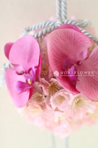 桜&胡蝶蘭和装ブーケ 和装ブーケ ボールブーケ お色直しブーケ