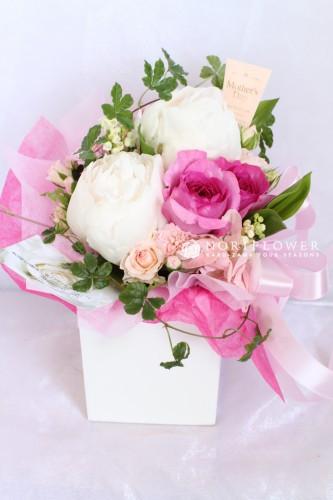 芍薬&オールドローズ 生花アレンジメント フラワーギフト