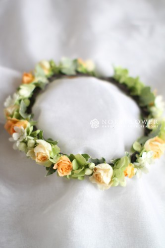 パステル系 花冠 ヘアーサークル