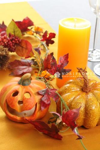テーブル装飾 秋のテーブルコーディネート ハロウィンパーティー装飾