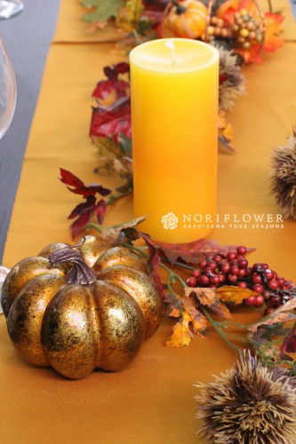 秋のテーブルコーディネート ハロウィンテーブルデコレーション テーブルデコレーション オータムこーディネート 秋のテーブルフラワー 秋のフラワーギフト