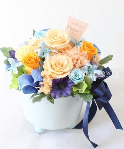 送料無料 母の日ギフト 全国送料母の日フラワーギフト  母の日鉢ギフト プリザーブドフラワー