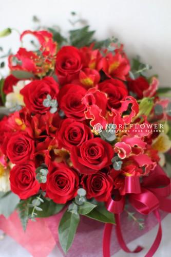 フラワーギフト バレンタインフラワーギフト お祝いフラワーアレンジ 軽井沢花屋 軽井沢フラワーショップ