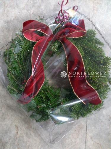 生モミクリスマスリース 生モミ クリスマスリース モミの木リース 軽井沢リース もみの木リース もみの木クリスマスリース