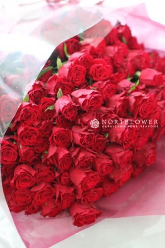 プロポーズ花束 赤バラ花束 お祝い花束 還暦花束 バラ108本花束 バラ99本花束 バラ100本花束 プロポーズ花束軽井沢 花束