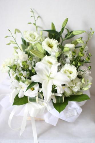 お盆花 ご供養花 お盆フラワーアレンジ お盆フラワーギフト 葬儀花 お悔み花全国発送可能