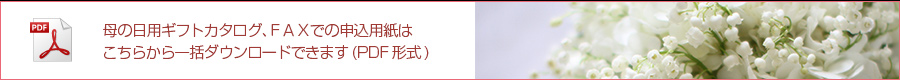 母の日ギフトカタログ&FAXお申込書